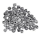 Perlen-Armband-Material, Pandora-Stil, handgefertigt, Antik-Silberfarben