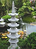 Pagode 5 stöckig japanische Steinlaterne