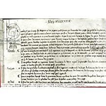 """Leinwand-Bild 30 x 20 cm: """"Page from The Register of the Council of the Parliament of Paris depicting Joan of Arc (c.1412-31), 10th May 1429 (pen & ink on paper) (b/w photo)"""", Bild auf Leinwand"""