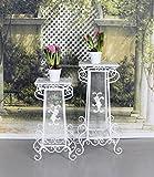 PALAZZO INT Zwei Blumentische Ablage Pflanztisch Shabby Chic Blumenständer Säulen Palazzo Exklusiv