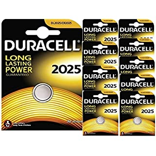 Aksans(TM) 10 X DURACELL 2025 CR2025 LITHIUM BATTERIES by Aksans