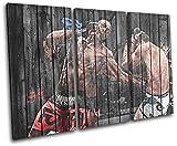 Bold Bloc Design - MMA UFC Jon Bones Jones Sports 150x100cm TREBLE Boite de tirage d'Art toile encadree photo Wall Hanging - a la main dans le UK - encadre et pret a accrocher - Canvas Art Print