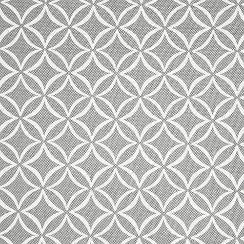 NOVELY® HANAU Evita Polsterstoff Raute Kreise Blumen Möbelstoff Dekostoff (Evita 32) -