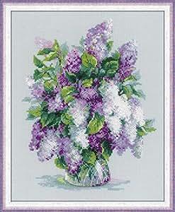 Riolis RI-1447 Kit de Broderie au Point de Croix Bouquet de Lilas Multicolore