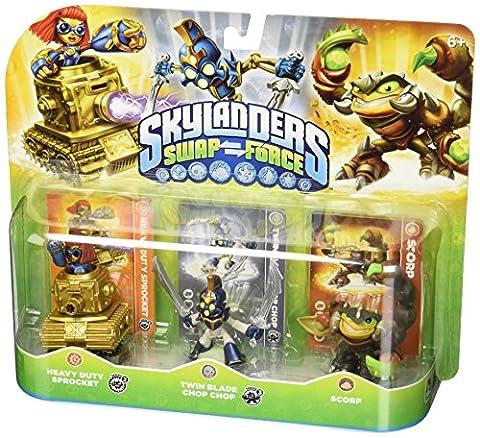 Skylanders – Swap Force – Sprocket, Chop Chop & Scorp – 3 Mini Figurines 6 cm