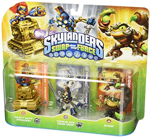 Skylanders Giant - Swap Force - 3er Pack Spielfiguren - Sprocket, Chop Chop & Scorp