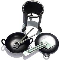 Kling™ Miniature Toys Black, Mini Iron Stove Set for Kids   Miniature Iron Play Set