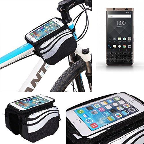 K-S-Trade Rahmentasche für BlackBerry KEYone Bronze Edition Rahmenhalterung Fahrradhalterung Fahrrad Handyhalterung Fahrradtasche Handy Smartphone Halterung Bike Mount Wasserabweisend, Silber-sc