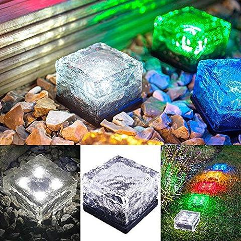 MEIWEI Baldosas cuadradas de hielo enterraron luces de jardín Solar de LED impermeable , warm white