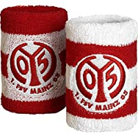 Schweißband 2 er Set 1. FSV Mainz 05 Logo - 8 x 9cm + gratis Aufkleber, Flaggenfritze®