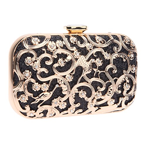 Bonjanvye Bird Print Purses and Handbags for Women Speacial Hand Clutch for Ladies Mint Black