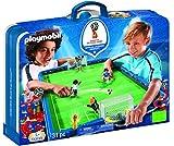Playmobil Fútbol 2018 FIFA World Cup Russia Campo de Fútbol Maletín, única (9298)