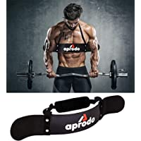 APRODO New Arm Blaster, Biceps Muscle Workout, Heavy Duty Thick Gauge, Padded, for Men & Women