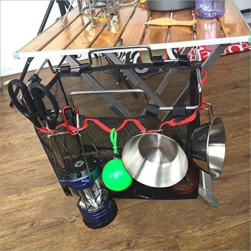 SYSI Outdoor Camping Faltbar Draht Regale Wechselspeichertaschen Küchezubehor Küchen Schutt Tragbare Picknicktisch Speicherbeutel (Küchen-draht-regale)