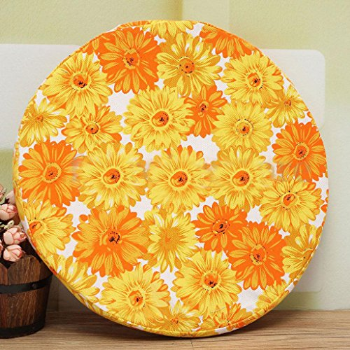 ELECTROPRIME Indoor Dining Garden Patio Home Office Round Pads Cushion-Chrysanthemum