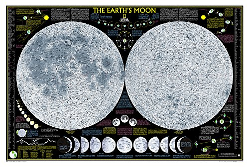 Earth's Moon, Laminated: Wall Maps Space: NG.PSP602276 (National Geographic Reference Map)