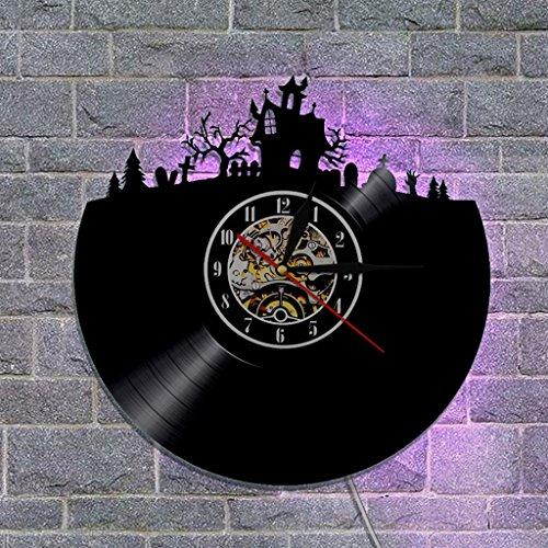 Nclon Compte Rendu Horloge Murale,Silencieux silencieuse Accueil Compte Rendu Design Mur Art Chambre Salon Horloge Murale-Noir 12inch