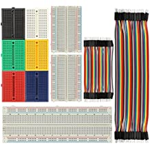 BENGIX Solderless Breadboard 170/400/830 Tie Point Prototype Breadboard for Arduino with 40/80 pcs Dupont wire(M/M) (9pcs breadboards+80pcs dupont wires(multi-size))