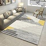 CHAI Wohnzimmer Dekorieren Teppichböden Nordic 3D Printing Einfachen Stil Kinderteppich Rechteckige Teppich Schlafzimmer Anti-Rutsch-Teppich Teppich Teppiche (Größe : 180x250cm)