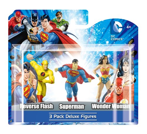 -DC UNIVERSE, 3Figuren Pack C: Reverse Flash, Superman und Wonder Woman, 10cm (mngudc45223) ()