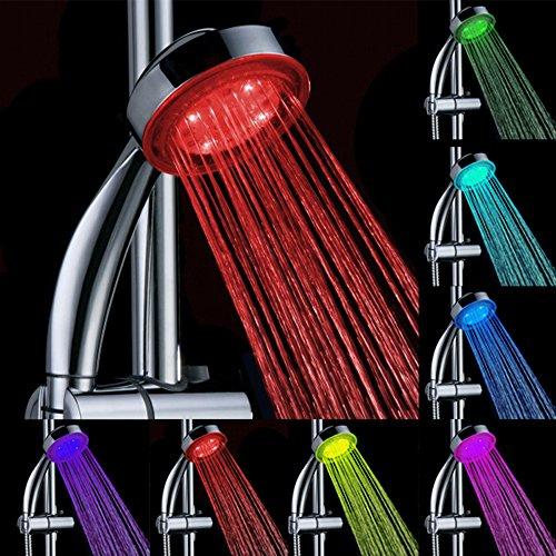 Bagno LED Shower Head, DLAND RC-9816 7 colori che cambiano docce LED per bagno, cambiamento di colore