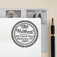 Personalizzato Rotondo Indirizzo Stamp Monogram Indirizzo personalizzati timbro di gomma