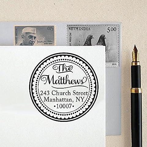 Kundenspezifische runde Adressen-Stamp-Monogramm-Adressen Personalisierte Stempel