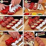 Gugutogo Special Accessori per la cucina casalinga Polpetta in plastica Maker Stampi per palline di pesce Polpette di carne ripiene fai da te (Colore: rosso e bianco)