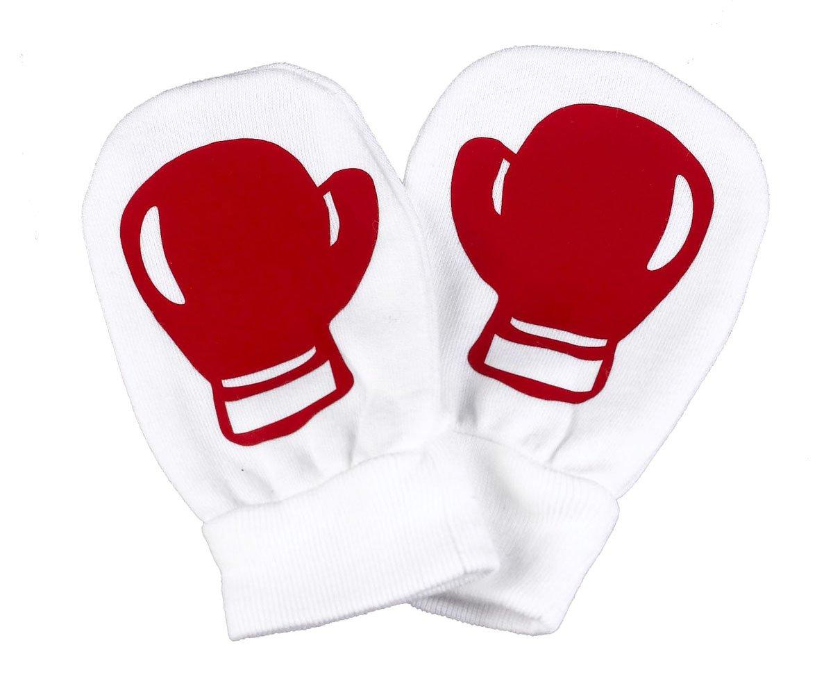 Spoilt Rotten SR – Rojo Boxing Baby 100% de cama de algodón – bebé de resistente a los arañazos guantes de