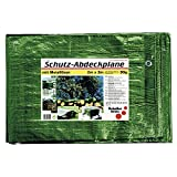SCHULLER Abdeckplane mit Ösen Farbe 90 Gramm, 6 x 8 m, grün, 46511