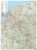 Freytag Berndt Wandkarten, Deutschland West, Poster, Metallbestäbt in Rolle - Maßstab 1:500.000 (freytag & berndt Poster + Markiertafeln)