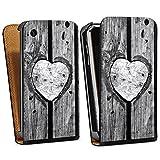 DeinDesign Apple iPhone 3Gs Étui Étui à rabat Étui magnétique C½ur en bois