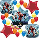Combined Brands The Incredibles 2 Party Supplies Happy Birthday Balloon Decorations Bundle