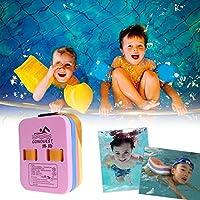 JUNERAIN Adult Kid EVA Back Float Kickboard Entrenamiento en la Piscina Placa de Ayuda a la natación (pequeña)