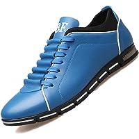 Jojsely56 Soprattutto Taglia Manuale di Moda Stivali in Pelle Intrecciata Scarpe di Pelle Scamosciata di Grandi…
