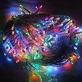 HG® 200M 1000 LED Lichterkette Bunt RGB Weihnachtslichterkette Wasserdicht für Weihnachten Party NEW YEAR Dekoration Garten Fenster