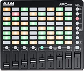 AKAI Professional APC Mini Kompakter USB Bus Powered 64 Button Clip Launcher für Ableton Live
