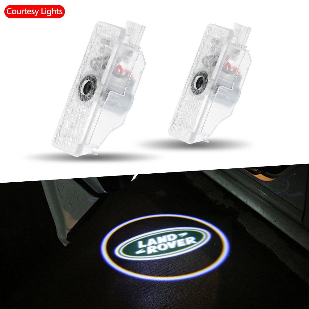 Rcj Car LED Porte Logo Vid/éoprojecteur Laser Bienvenue lumi/ère fant/ôme Ombre lumi/ère lampe Logos