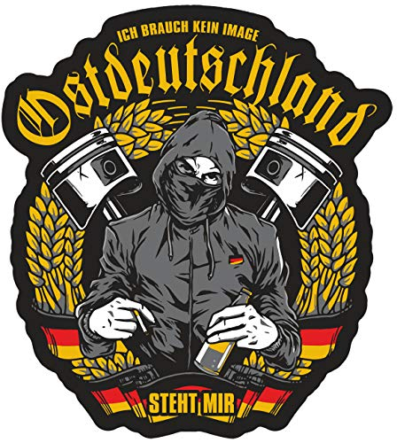 Aufkleber Wetterfest Ostdeutschland Steht Mir 11 cm oder 40 cm Osten DDR Moped