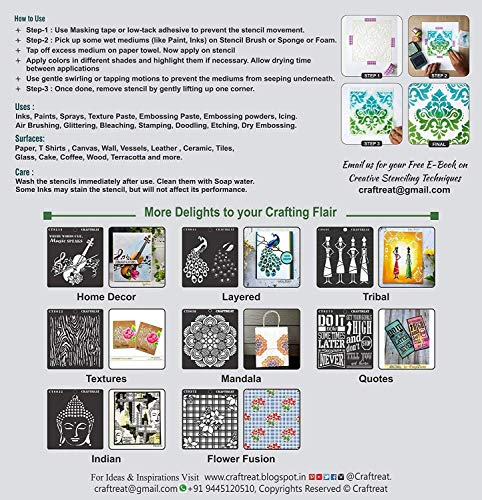 """CrafTreat Stencil - Paris 