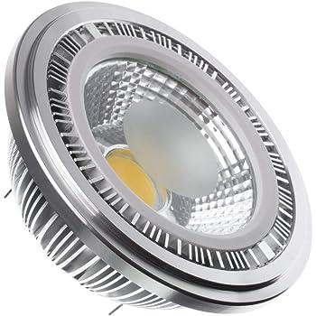 Bombilla LED AR111 COB 12W (12V) Blanco Frío 6000K efectoLED