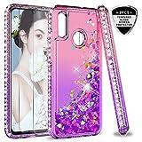 LeYi Custodia Huawei P Smart 2019 Glitter Cover con Vetro Temperato [2 Pack],Brillantini...