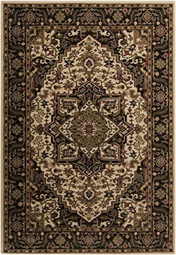 Surya RLY5038-233 Machine Made Casual Accent Rug, 2 by 3-Feet 3-Inch, Black/Olive/Tan/Butter/Beige/Burgundy by Surya (Olive Surya)
