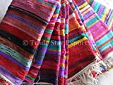 Trade Star Handmade Rag Rug, Carpet Runner, Large Chindi Area Rugs 4x6, Indian Dhurrie, Floor Mat