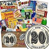 Zum 20 Jubiläum | Spezial Geschenk | Geschenk Box | Zum 20 Jubiläum | INKL. Markenbuch | Ossi Produkte | Geschenk 20 hochzeitstag | mit Viba, Zetti, Rotkäppchen Sekt und mehr