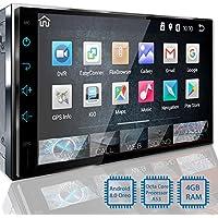 Tristan Auron BT2D7018A Autoradio mit Android 8.0, 7'' Touchscreen Bildschirm, GPS Navi, Bluetooth Freisprecheinrichtung, Octa Core, MirrorLink, USB/SD, OBD 2, DAB+, 2 DIN Auto