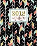 Agenda: 2018 Agenda semana vista español : dorado, coral y verde menta : 190 x 235 mm, 160 g/m²: Volume 12 (Calendarios, agendas y organizadores personales)