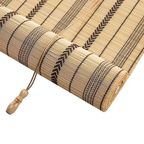 Estor enrollable YXX Cortinas de Ventana con oscilación Plana en un 45{296e98fc4f93a6254b12d5aba3551e1498b1e01d4c6e7200f4be30de64e4a1bb} - Cortinas enrollables de bambú Natural Cortadas para Puertas de Patio al Aire Libre en Interiores (Tamaño : 150x220cm)