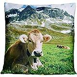 Kissenhüllen 40x40 cm Dekokissen Kissenbezug Fotokissen Kissen Hüllen Bezug Bezüge Kuh