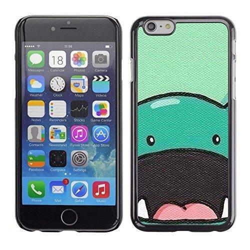 GIFT CHOICE / Dimagriscono Duro Custodia protettiva Caso Cassa Slim Hard Protective Case SmartPhone Cover for Apple Iphone 6 Plus 5.5 // dinosauro animale sveglio disegno a fumetti // - Sveglio Del Dinosauro